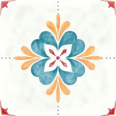 Vinyl Wall Tiles, Patterned Wall Tiles, Tile Decals, Stencil Patterns, Wall Patterns, Textures Patterns, Adobe Illustrator, Vintage Tile, Vintage Floral