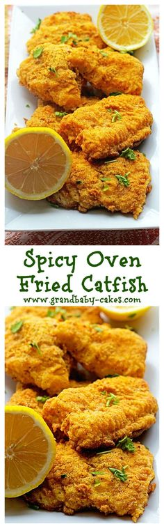 Lovely Spicy Oven Fried Catfish – www.grandbaby-cak… Jocelyn (Grandbaby Cakes) The post Spicy Oven Fried Catfish – www.grandbaby-cak… Jocelyn (Grandbaby Cakes)… appeared first on Recipes 2019 . Fried Catfish Recipes, Chicken Recipes, Baked Catfish, Grilled Catfish, Blackened Catfish, Cooking Recipes, Healthy Recipes, Oven Recipes, Snacks