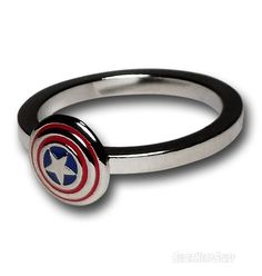 Images of Captain America Silver Shield Ring