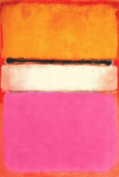 Rothko, Yellow, Pink and Lavender on Rose ORANGE GRENADINE