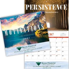 Want some inspiration to wake up to every day? This motivational calendar will give you something different to strive for each month as you plan your days. Email sales@misterpromotion.com this #MotivationMonday!  Phone: 212-677-7666  Website: www.misterpromotion.com