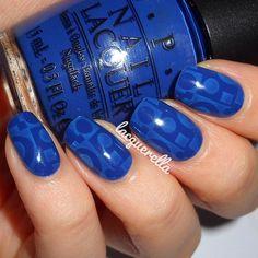 blue nail design by lacquerella  #nails #nailart