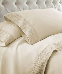 Shop for Modern Threads Crochet Lace Microfiber Bed Sheet Set. Get free delivery On EVERYTHING* Overstock - Your Online Bedding Basics Store! 100 Cotton Sheets, Cotton Sheet Sets, Lace Bedding, Bedspread, Best Bed Sheets, Blush, Textiles, Bedding Basics, Twin Sheet Sets