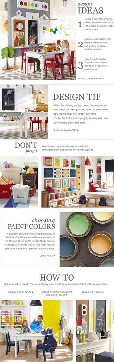 Play Room Ideas & Toy Room Ideas | Pottery Barn Kids. LIke the bulletin board for artwork.