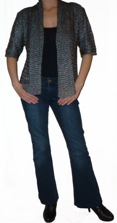 Women Cardigan Vest Sweater  Blouse Knit Coat by DancingQween8888