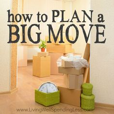 Moving is never fun, but a little planning can make the task a whole lot smoother! Whether you are moving across town or across the country (or even just thinking about it), don't miss these practical tips for how to plan a big move! Plan a Big Move