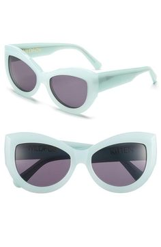 Mint cat-eye sunglasses. Want a pair in every color!