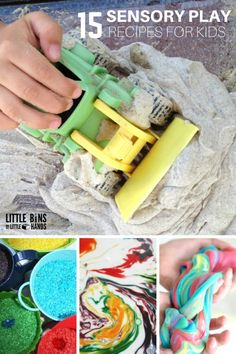 Sensory play recipes for easy tactile sensory play! Make sensory doughs, sensory slimes, oobleck, colored rice, and more with simple to use sensory recipes perfect for early learning and early childhood development. Sensory play ideas work for toddlers, p