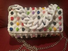 Crochet Handbags, Crochet Bags, Knit Crochet, Popcorn Stitch, Crocheting, Baskets, Wool, Knitting, Coin Purses