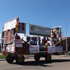 County quilters winning float 2014 . Farmers day