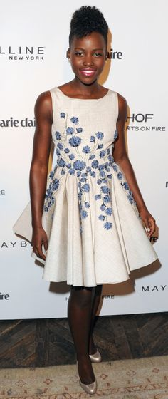 Lupita Nyong'o at Marie Claire's Fresh Faces Party.