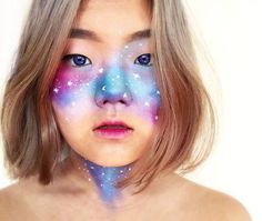 Galaxy Makeup Blue Eyes | Creative DIY Makeup Ideas You Can Try for your next Costume Party! by Makeup Tutorials at http://makeuptutorials.com/galaxy-makeup-ideas/