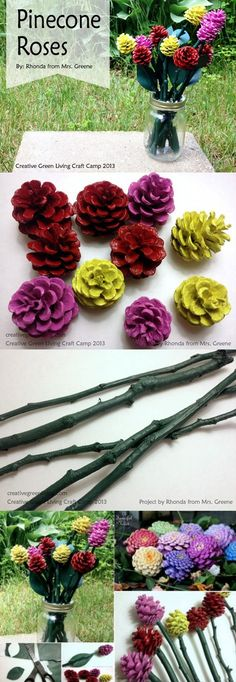 DIY Pine Cone Roses Pictures, Photos, and Images for Facebook, Tumblr, Pinterest, and Twitter