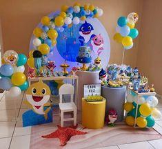 Festa Baby Shark: 70 ideias e tutoriais para uma decoração animal 2nd Birthday Party Themes, 3rd Birthday Cakes, Boy Birthday Parties, Incredibles Birthday Party, Shark Party Decorations, Baby Shower Centerpieces, Baby Shark, Animal, Ideas
