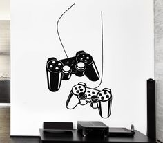 Joystick Video Game Wall Decals Gamer Play von Wallstickers4you