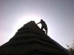men on the roof