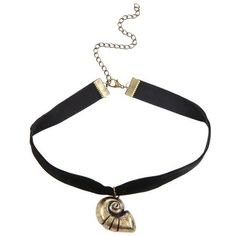Disney The Little Mermaid Shell Choker ❤ liked on Polyvore featuring jewelry, necklaces, seashell pendant necklace, choker pendants, disney jewellery, sea shell necklace and choker necklace