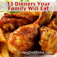 Most take less than 30 minutes and cost less than $5 for the ENTIRE family! Here are a few easy menu ideas to help you save money on groceries. http://www.livingonadime.com/easy-family-menu-ideas/