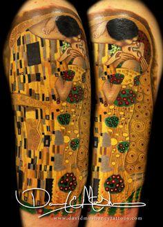 """""""The Kiss"""" Klimt tattoo <3"""