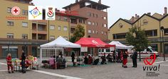 'Salviamoci la vita' event organized by the local CRI Red Cross Italy - Piazza Don Giussani 20th of october 2013