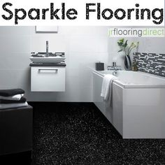 Black Sparkly Bathroom Flooring Glitter Effect Vinyl Floor Next Sparkle Lino In Home