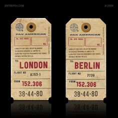 "Multi-disciplinary design consultancy Antrepo has created an awesome publicity campaign for ""Public Gothic"", a vintage-style typeface that. Vintage Graphic Design, Graphic Design Posters, Vintage Designs, Ticket Design, Tag Design, Vintage Luggage, Vintage Travel, Gothic Fonts, Vintage Labels"