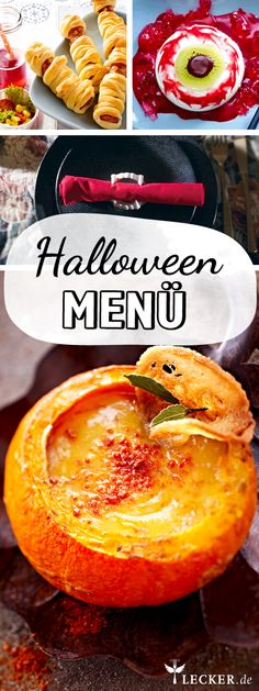 Halloween-Menü - schaurig speisen in drei Gängen