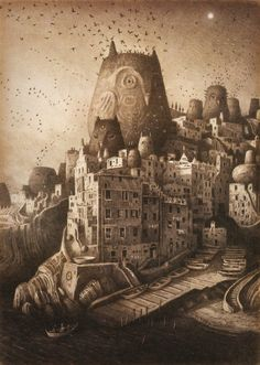 Shaun Tan - Illustration from The Arrival.