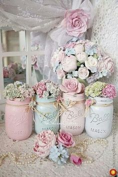 Pastel colors #mason jar
