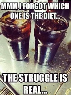 The struggle is real.  Diet is darker.  But the real hard one is dr. Pepper and diet coke.
