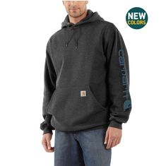 Shop the Midweight Hooded Logo Sweatshirt for Men s at Carhartt.com for  Men s Sweatshirts that works as hard as you do. 3586a52814a6