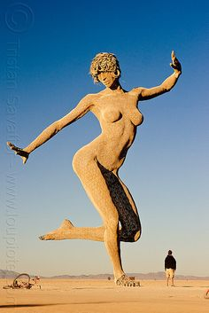 "figurative art sculpture which really should not be burnt surreal and thought provoking and up in flames Burning Man ""festival"" Sand Sculptures, Sculpture Art, Art Bizarre, Burning Man Art, Instalation Art, Black Rock Desert, Sand Art, Jolie Photo, Outdoor Art"