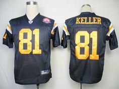 Jets #81 Dustin Keller Dark Blue With AFL 50TH Patch Embroidered NFL Jersey! Only $18.50USD