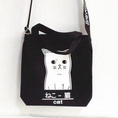 "Japanese harajuku cute cat shoulder bag - Use the code ""batty"" at Cute Harajuku and Women Fashion for 10% off your order!"