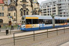 Trens elétricos, transporte público em Leipzig, Alemanha. Fotografia: Markus Schroeder no Flickr.