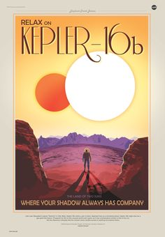 Nasa produces vintage travel posters for newly discovered planets