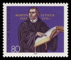 Martin Luther auf Briefmarke von 1983