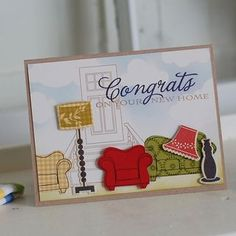 New Home card by Betsy Veldman for Papertrey Ink (February 2012).