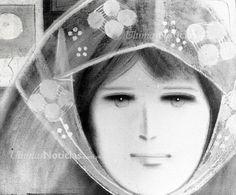 Pintura de Virgilio Trómpiz, rostro oceo sobre tela, 1975. Foto. Archivo Fotográfico/Grupo Últimas Noticias