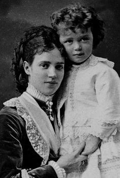 Marie with son Nicholas the future Nicholas I l. 1872