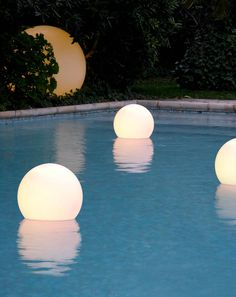 ACQUAGLOBO lights, design by SLIDE Studio