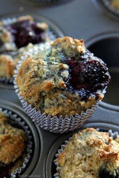 Light Berry Kefir Muffins, Gluten-free