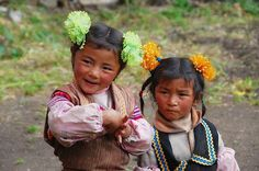 2 cute Tibetan girls