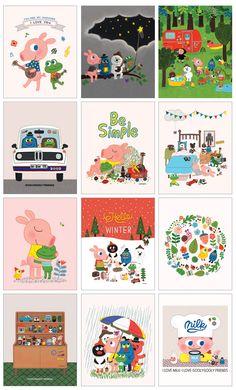 Korean Design, Love Illustration, Planner Organization, Cute Characters, Game Art, Book Art, Craft Supplies, Calendar, Arts And Crafts