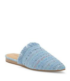 Lucky Brand Bapsee Denim Cirque Pattern Mules J9wPZB