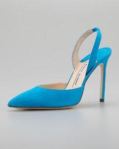 Atwood Blahnik and Choo The ABCs of Shoes X1M46 Manolo Blahnik Carolyne Suede High Heel Halter Blue 7142  2013 Fashion High Heels 