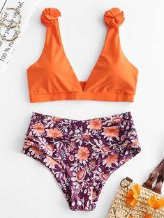 19fd75178e [19% OFF] [POPULAR] 2019 ZAFUL Floral Tummy Control Bikini Set In