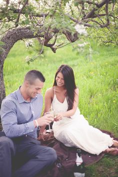 Stunning Apple Orchard Engagement Session by Michelle Huber Photography