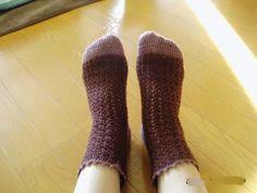 Crochet socks of Two-tone Color