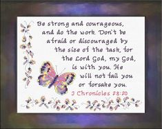 Be Strong and Courageous - I Chronicles 28:20